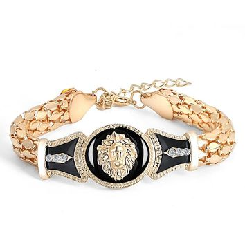 New Women Fashion Lion Head Bracelet Bangles Women's Fashion Gift For Christmas Valentine's Day