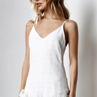 Honey Punch V-Neck Ruffled Romper at PacSun.com