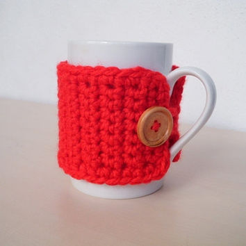 Christmas mug cozy Knit coffee sleeve Cup cozy Mug cover Drink cozy Mug warmer Coffee cup cosy Cup sleeve Tea cup cozy  Cup warmer