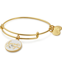 Because I Love You Charm Bangle With Swarovski® Crystal