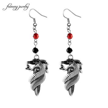 feimeng jewelry Game of Thrones Earrings Longpan sword vintage silver crystal pendant earrings with antique jewelry