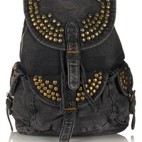 Studded Denim Backpack - Bags & Wallets - Accessories - Topshop USA