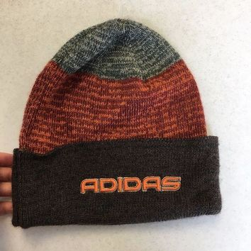 DCCKIHN BRAND NEW ADIDAS BROWN AND ORANGE WINTER KNIT HAT SHIPPING