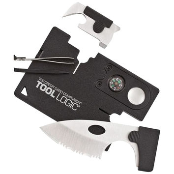 TOOL LOGIC CC1SB Credit Card Companion with Lens & Compass