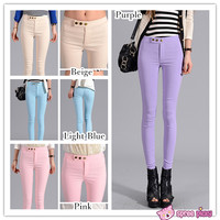[S--3XL] 8 Colors Slim Bottoming Stretch Pants SP151846