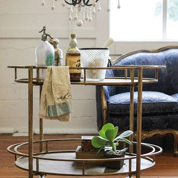 Creative Co-Op Two-Tier Metal Bar Cart | Nordstrom