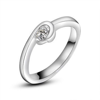 New Arrival Shiny Jewelry Gift Stylish Simple Design A4 Size Ring [6586101831]
