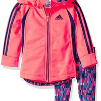 Adidas Baby Girls' Hooded Tricot Jkt Set
