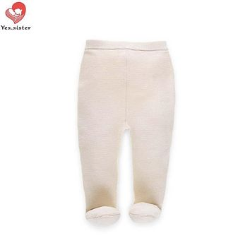Yes. sister baby pants boys girls Leggings Winter Kid Thick knitted sweater pants Boys Warm Trousers Baby Children Legging