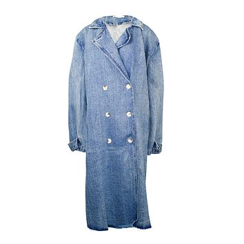 Over-sized Denim Trench