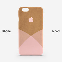 iPhone case - pink shades on wood pattern - iPhone 6s case, iPhone 6s Plus, iPhone 6 case, iPhone 5s case, iPhone 6 Plus, matte, L27