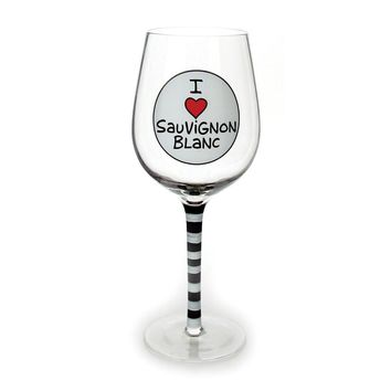 Our Name Is Mud I Love Sauvignoir Wine Glass