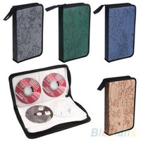 Home fashion World Map CD VCD DVD 80 Discs Storage Holder Case Wallet Vintage PVC Bag Carry Organizer Tool [8081669255]