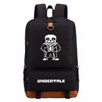 Game Cartoon Undertale sans backpack  casual backpack teenagers Men women's Student School Bags travel Shoulder Bag Laptop Bags