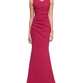 La Petite Robe di Chiara Boni Claudia Sleeveless Ruched Gown