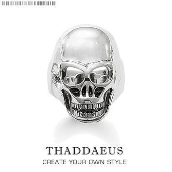 Silver Skull Ring,Thomas Style Glam Fashion Good Jewerly For Women Men,2018 Ts Punk Gift In 925 Sterling Silver,Super Deals