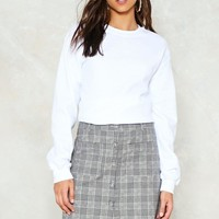 Check It Out Button-Up Skirt