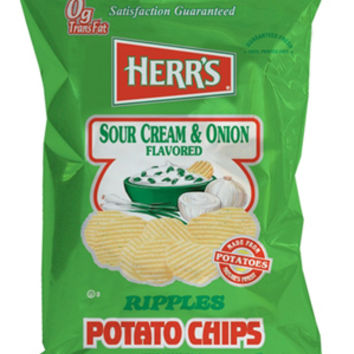 Herr's Sour Cream & Onion Potato Chips 1 oz Bags - Pack of 42