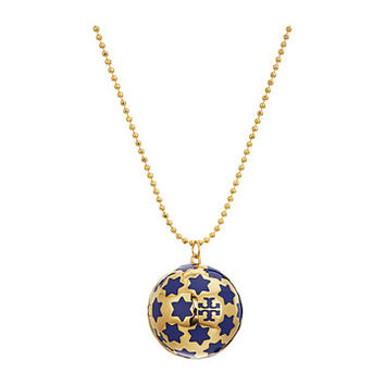 Tory Burch Celestial Logo Locket Necklace