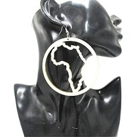 Silhouette of Africa earrings | African | Africa shape | Natural hair | Afrocentric | jewelry