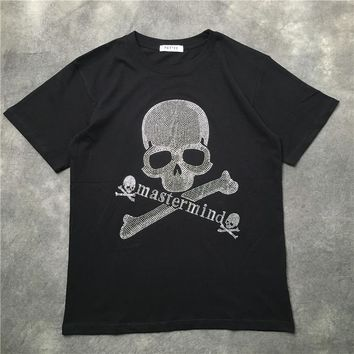 2018 Latest TOP Vlone Mastermind T Shirt kanye Men High Quality Summer T-shirts Skeleton Mastermind Japan letter Tee Black S-XXL
