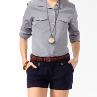 Fitted Snap Button Shirt