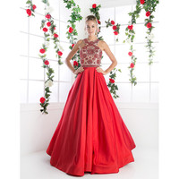 Preorder -  Red Sexy Embellished Halter Long Gown 2016 Prom Dresses