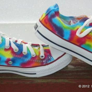 VONET6 Made to Order ... Tie-Dye Converse Shoes Women size Lo Top