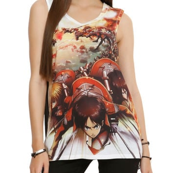 Attack On Titan Trio Girls Muscle Top