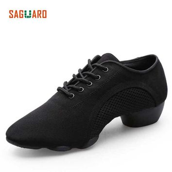2018 Professional Dance Shoes Woman Adults Latin Jazz Modern Dance Shoes Ladies Aerobics Sneakers Men Ballroom Teacher Shoes