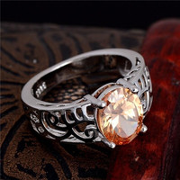 Jewelry 925 Sterling Silver AAA Oval Cubic Zirconia CZ Finger Ring US SIZE 7-9 3colors