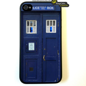 Tardis iPhone 4 Case New Hard Fitted Case For by KeepCalmCaseOn