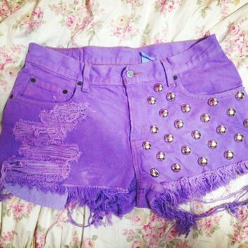 Levi High Waisted Dyed Shorts by GypsyDrift on Etsy