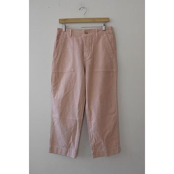 Gap Button Fly Wide Leg Pink Pant (8)