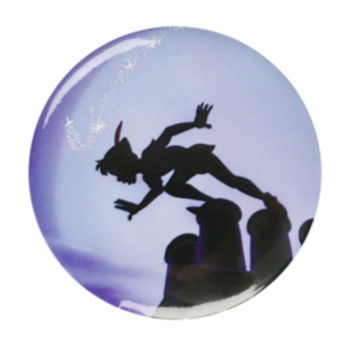 Disney Peter Pan Silhouette Button Mirror