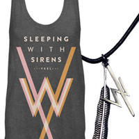 Sleeping With Sirens | Feel Flowy Tank + Charm Necklace