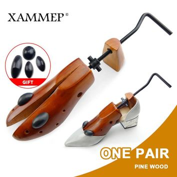 Shoe Tree 1 Pair Wooden Shoe Stretcher For Men and Women Genuine leather Shoes Adjustable Expander shoes Width and height Xammep