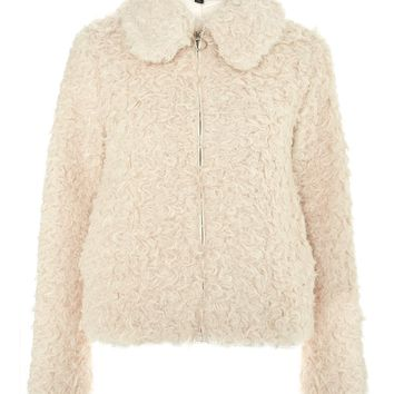 Curly Faux Shearling Jacket - New In Fashion - New In