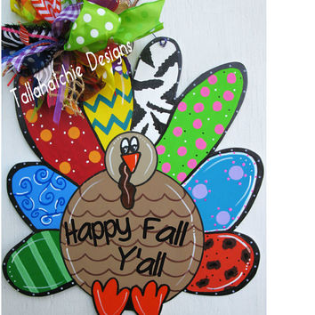 Turkey Door Hanger Thanksgiving Turkey Door Hanger Wood Turkey Door Hanger