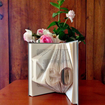 Folded Book Art - Book Sculpture with your name - Gift idea