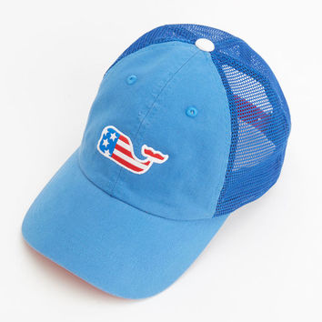 Shop Whale Flag Patch Trucker Hat at vineyard vines