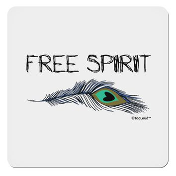 "Graphic Feather Design - Free Spirit 4x4"" Square Sticker by TooLoud"