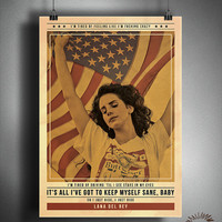 Lana Del Rey - Just Ride - Quote Retro Poster - Music Legends Series