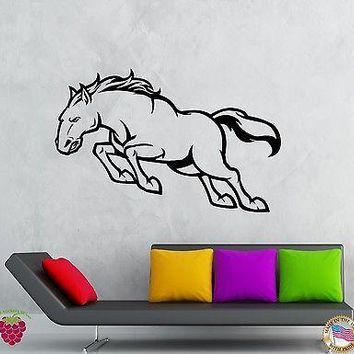 Wall Stickers Vinyl Decal Animal Horse Mustang Decor For Living Room Unique Gift (z2077)
