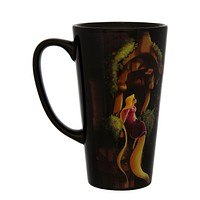 Disney Parks Wondergroung June Kim Rapunzel Tall Ceramic Coffee Mug New