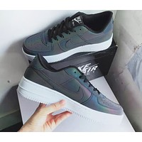 NIKE Chameleon Fashion New Hook Luminous Reflective Leisure Women Men Shoes Black