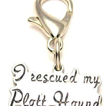 I Rescued My Plott Hound Zipper Pull