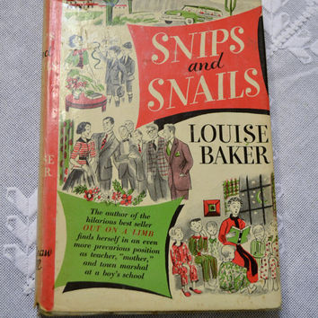 Vintage Book Snips and Snails Louise Baker PanchosPorch