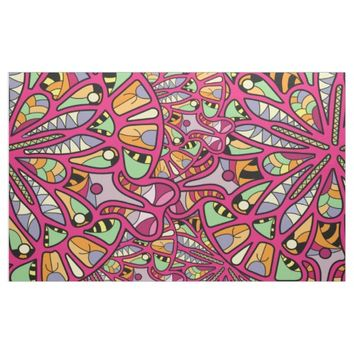 Kaleidoscopic Multicolored Abstract Pattern Fabric