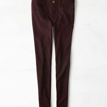 AEO Women's Knit Jegging (Deep Plum)